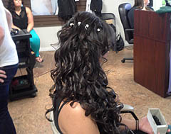 BRASS SCISSORS HAIR DESIGN